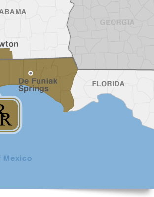 Map Of Alabama And Florida.R R Vending Inc About Us Service Areas Map
