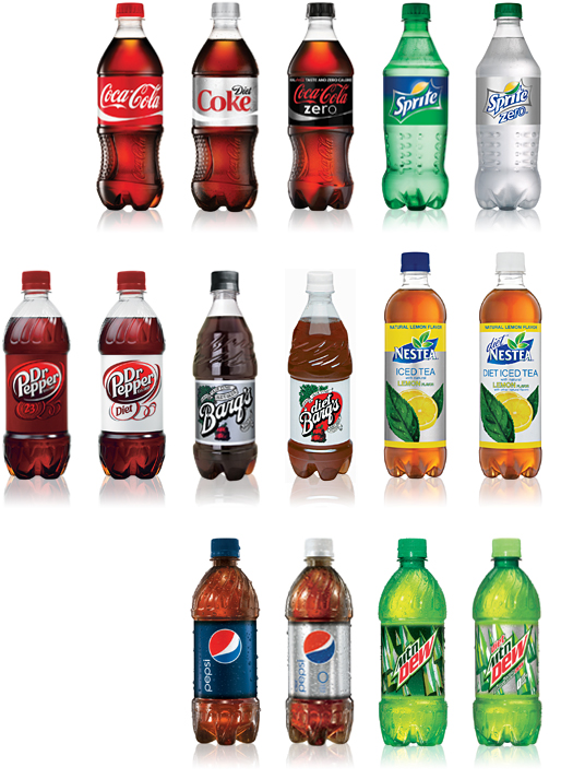 Pepsi Coca-Cola Product List